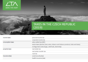 TAXES IN THE CZECH REPUBLIC 2019